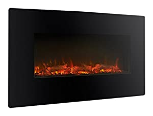 Limousine LED Wall Mounted Electric Fire - Black
