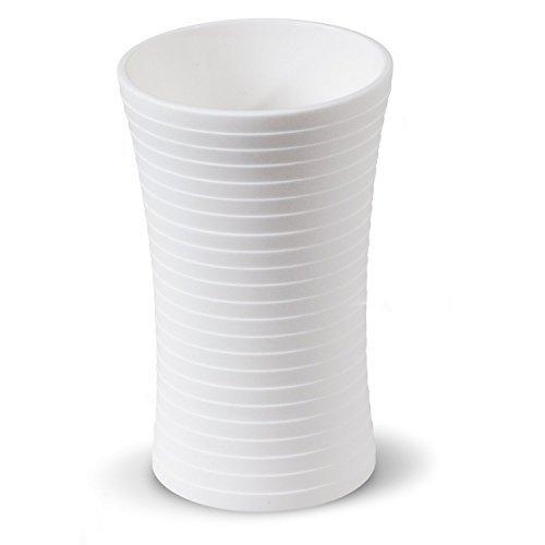Tatkraft Le Force 4742943012851 Gobelet à Dents Acrylique, Blanc, 11.2 x 7.6 x 7 cm