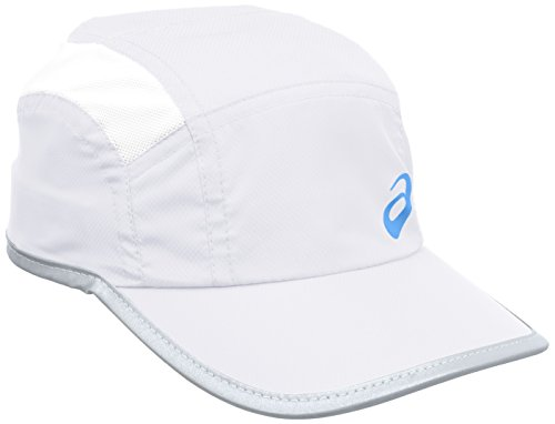 ASICS 123005 - Berretto da corsa unisex, colore bianco, 58 cm