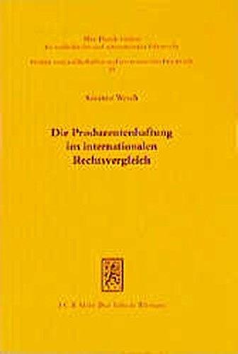 Die Produzentenhaftung im internationalen Rechtsvergleich. Eine rechtsvergleichende Untersuchung ihrer Strukturen in den Ländern Deutschland, England, Frankreich und den Vereinigten Staaten von Amerik