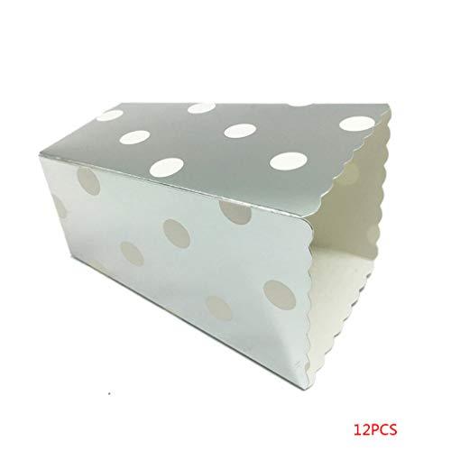 shangjunol 12PCS / Set Schöne Popcorn Box Süßigkeit sanck Favor Taschen Streifen-Geschenk-Beutel Hochzeitsfestbevorzugung Kinder Kino Party Supplies