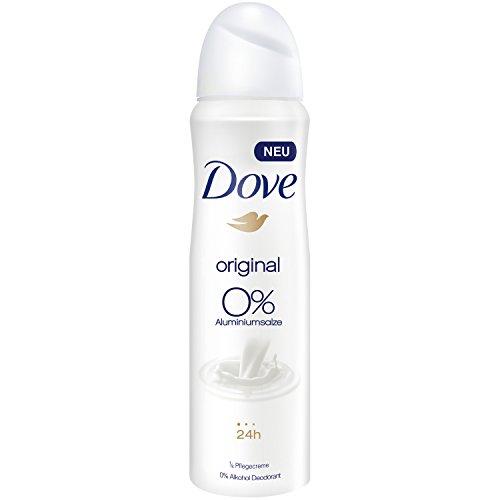 Desodorante Dove en spray original sin aluminio, 6unidades (6unidades de 150ml)