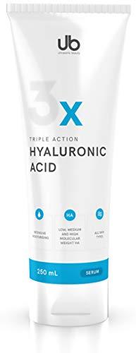 TRIPLE Hyaluronsäure Serum - 250 mL Hyaluron Gel Konzentrat - Hochdosiertes Niedrigmolekulares