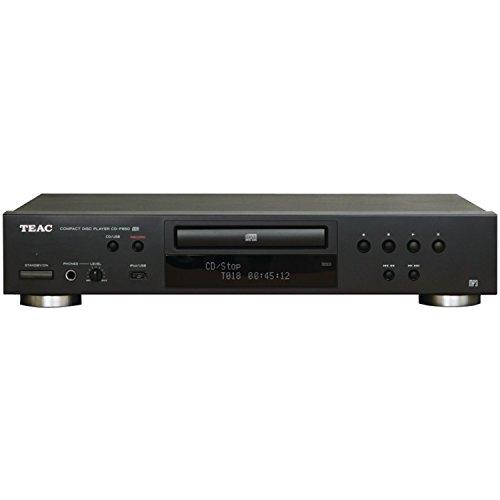 Teac CD-P650(B) CD Player mit USB Aufnahmefunktion (Wiedergabe von CD/CD-RW/MP3 Discs, Anschlussmöglichkeit für iPod/iPhone über USB, Kopfhörer-Anschluss, optischer Digital-Ausgang), Schwarz (Projekt Cd-player)