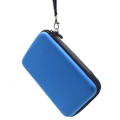 Hongfa 1Nintendo 3DS XL Schutzhülle mit 8Spiel Halter Ersatz Hard Schutzhülle für Nintendo 3DS XL, Neuer 3DS, 3DS XL, (Pink) Hard Cover-Mesh Zubehör Tasche-Tragegurt 1PCS3DSXL Case-Blue (Pink Nintendo Dsi Xl)