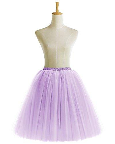Bridesmay Damenrock Vintage Tuturock Tüllrock Petticoat Unterkleid Retro Partykleid Lavender