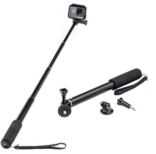 Monopiede estensibile bastone selfie stick per gopro akaso crosstour campark fitfort garmin virb apeman sony camkong motorola victure kitvision polo nikon compatto per fotocamera (filetto 1/4