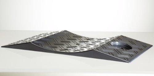 4 Stück Reifenwiege Reifenschutz Reifenschuh Reifenschoner Standplatte schwarz