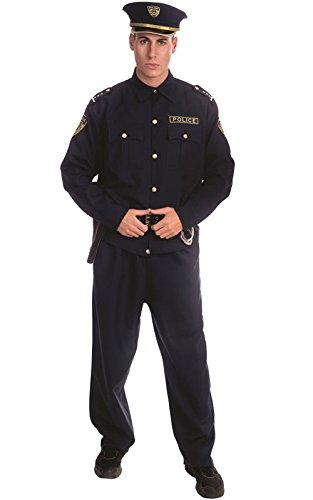 Officer Set Kostüm - Dress Up America 330-S Adult Police Officer Kostüm Set, Klein (92-99 cm Taille, 160-168 cm Höhe)