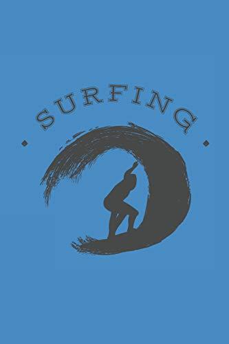 SURFING: NOTEBOOK Surfer Notizbuch Planer 6x9 lined