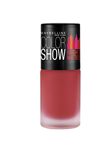 Maybelline New York Lively Rose Colour Show Bright Matte Nail Paint, Red, 6ml