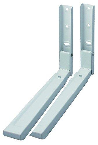 Nordlinger Pro 780021 2 EQUERRES DE SUPPORT MICRO ONDES, Blanc