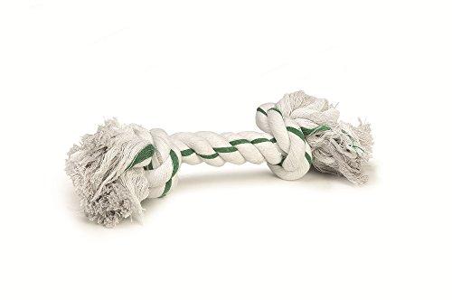 Bild von: BEEZTEES Hundespielzeug: 6 x Knotentau MINT weiß/grün 32cm 125g #0640955