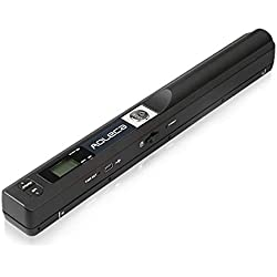 Mini Scanner de Poche Aoleca 900 DPI Resolution Portable sans Fil Sélection de Format JPG/PDF (USB 2.0 Haute Vitesse, Carte Micro SD 8G et Logiciel OCR inclus)