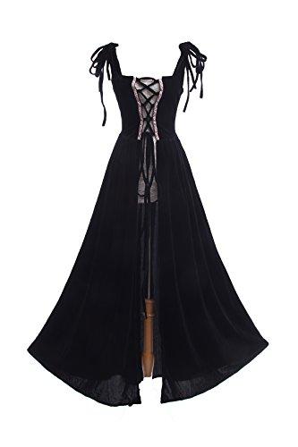 lter Kleid Lang Ärmellose Renaissance Kleider Cosplay Kostüm (Renaissance-kostüme Für Erwachsene)