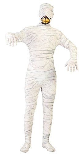 Mens Mummy 2nd Skin Ancient Egyptian Halloween Stag Do Fancy Dress Costume Outfit Large (Large)