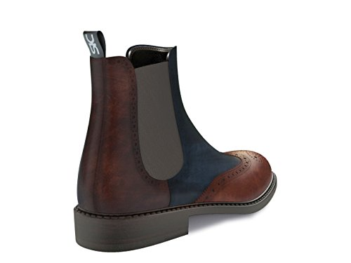 DIS - Luciano - Chelsea Boot Full Brogue – Homme Multicolore