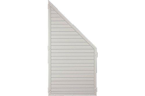 Sichtschutzzaun Kunststoff grau 90 x 180/90 cm (Serie Juist)