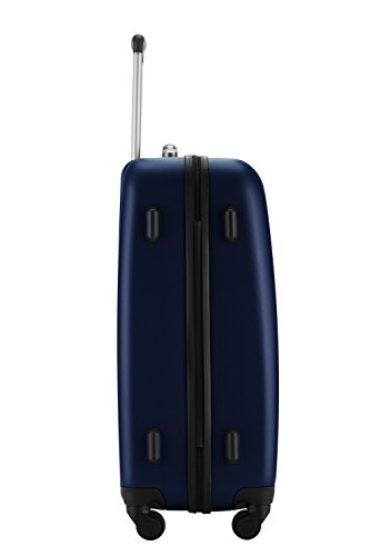 HAUPTSTADTKOFFER® Hartschalen Koffer WEDDING 1209 · 3 Koffergrößen (42Liter · 67Liter · 103Liter) · MATT · TSA Zahlenschloss + GEPÄCKGURT (103 Liter, Apfelgrün) Dunkelblau