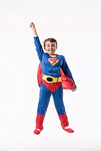 Kinder Rey Kostüm - El Rey del Carnaval Superman Eco Kostüm für Kinder G2-(8/10 Jahre)