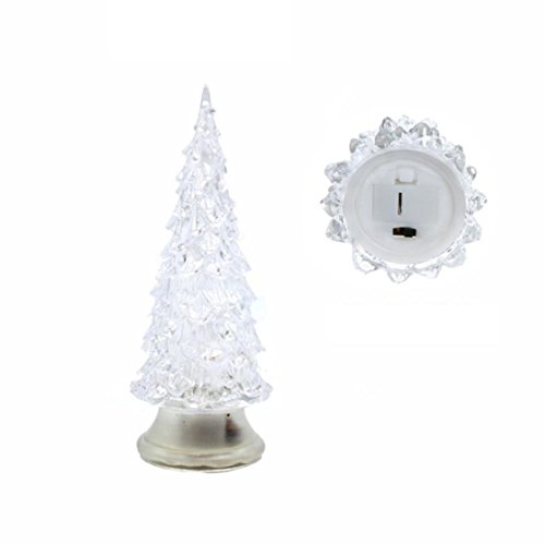 wuayi Novel Christmas Tree LED Lamp Light Crystal Decoration Home Party Gift Decor Xmas (Candy-wrapper-schmuck)