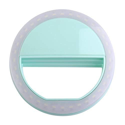 Tragbare Selfie Licht Ring Clip leuchtende Lampe LED-Blitzlicht Telefon Ring grün (Lampe Leuchtend Grüne)