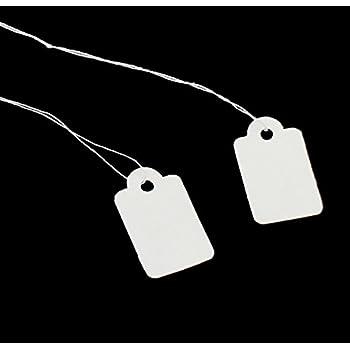 100 St/ück Markierungsetikette Preisschilder Preisetikette Anzeige Tags mit H/ängend Faden