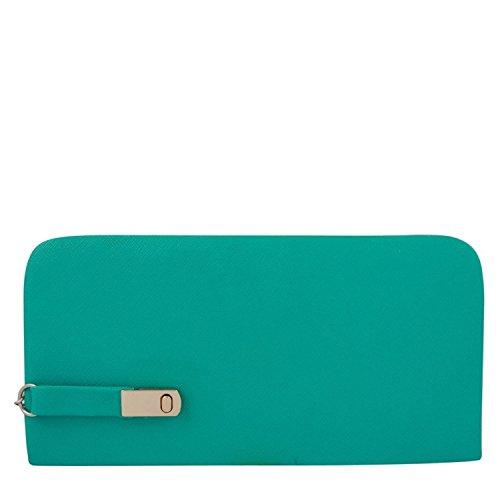 Awesome-Fashions-Womens-Clutch-Wallet-Aqua-Green