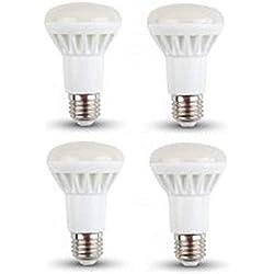 Ampoules LED R63Réflecteur-Lot de 4-E27/Edison à vis-8W-blanc froid 6000K/500lumens/NON Dimmable/20000heures Vie/230V/120° Angle de faisceau/SKU: 4244