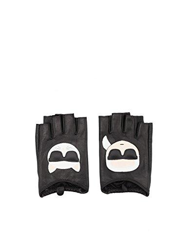 Preisvergleich Produktbild Karl Lagerfeld Damen 81Kw3605999 Schwarz Leder Handschuhe