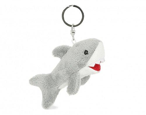 Schlüsselanhänger Hai, aus Plüsch, Tier Tiere, Haie Haifisch