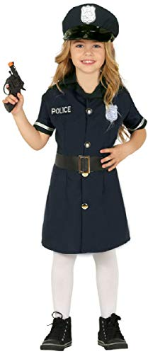 Womens Police Officer Kostüm - Girls Police Officer Woman Uniform Emergency Services Job Occupation Fancy Dress Costume Outfit (3-4 years)