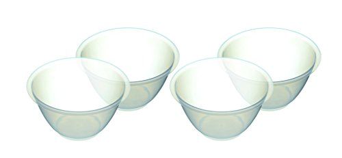Kitchencraft Bol de plástico, Transparente, 800 ML, Pack de 4
