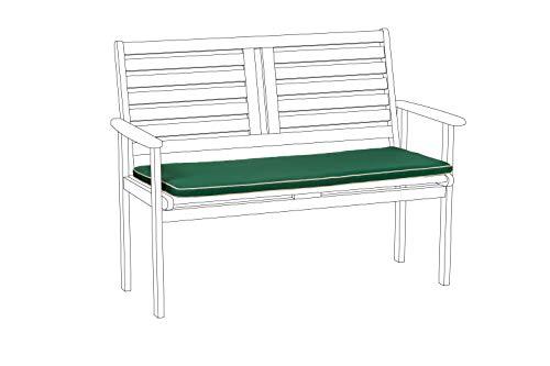 Gardenista Bench Sitzpolster 114cm x 46cm Sitzpolster für Bank, grün mit naturfarbener Paspelierung -