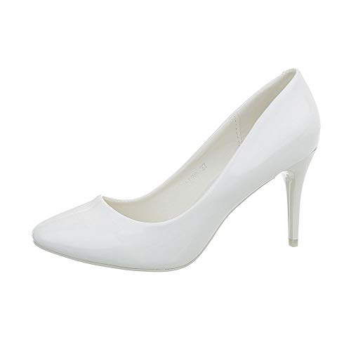 Ital-Design Damenschuhe Pumps High Heel Pumps Synthetik Weiß Gr. 40