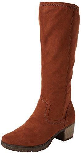 Softline Damen 25662 Stiefel, Braun (Cafe), 39 EU (Knee Brown Suede Stiefel)