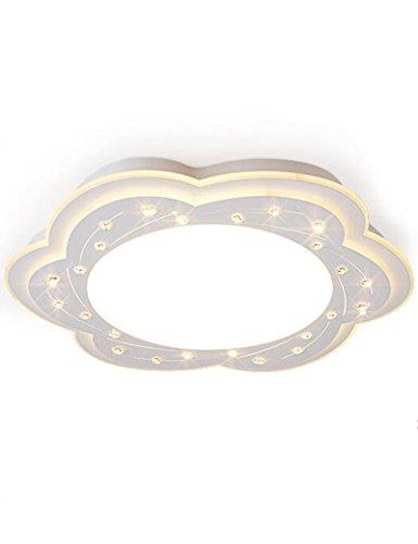 forma di fiore LED Ferro decorazione di cristallo Calda e romantica plafoniere Camera da letto semplicità moderna personalità Creativo plafoniere ( colore : Tre Luce colore , dimensioni : 62cm )