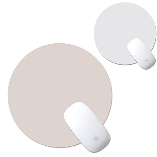 proelife Home/Office runde PU Leder rauscharmes rutschfeste Maus Pad Matte Vorderseite/Rückseite Arbeiten Face umschaltbar für Apple Magic Maus Microsoft Maus, verkabelt/kabellos Bluetooth Maus, Pink/Silver Colour, Cute