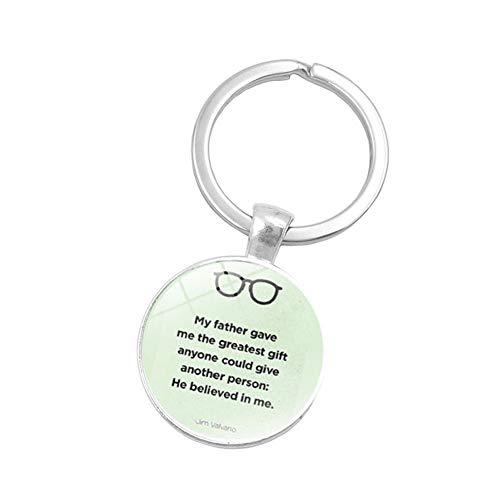 nhänger/Schlüsselanhänger für Vatertag, französische Buchstaben, rund, Glas, Geschenk für Vatertag ()