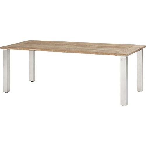 4Seasons Outdoor Casa Tisch 240 x 110 cm recycletes Teakholz mit Edelstahlbeinen