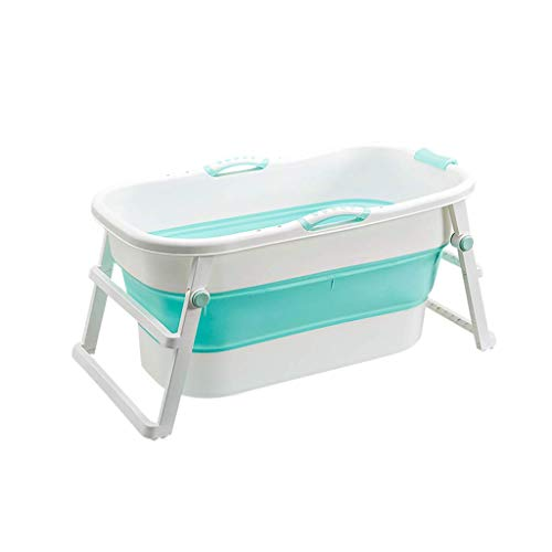 Bathtub Folded,Household Portable Bathtub, Adult Outdoor Travel Tub, A Children'S Bath Home, 107 * 59 * 53 Cm (Color: Pink) - Green