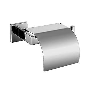 Aothpher Toilettenpapierhalter aus Edelstahl, hochwertiger Klopapierhalter - WC-Papierhalter mit Deckel
