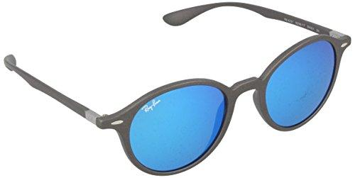 Ray Ban Unisex Sonnenbrille RB4237, Gr. Medium (Herstellergröße: 50), Grau (Gestell: Grau, Gläser: Blau Flash 620617)