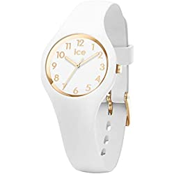 Ice-Watch - ICE glam White Gold - Montre blanche pour femme avec bracelet en silicone - 015341 (Extra small)