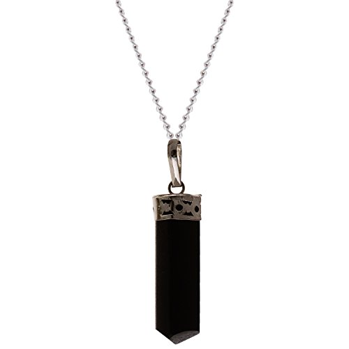 The Crystal Jewel Energized Black Tourmaline Pencil Pendant