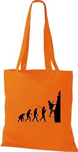 Shirtinstyle Borsa In Tessuto Juta Evolution Climber Frre Climp Vari Colori Arancio
