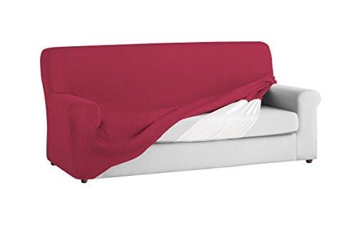 Textilhome - Copridivano TEIDE Elasticizzato, Taglia 3 Posti - 180 a 240 cm. Colour Rosso