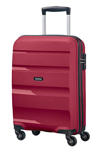 American Tourister Bon Air - Spinner Small Strict Equipaje de Mano, 55 cm, 31.5 Liters, Rojo (Burgundy Purple)