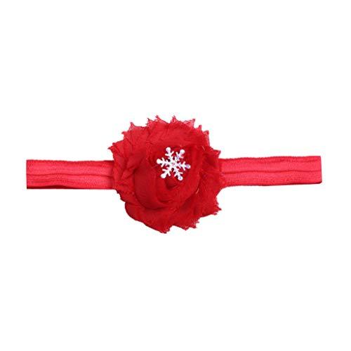 Younthone Weihnachtsfeier Haarband Baby Kinder Haarband Mode Weihnachten Frauen Haare Kopfreifen Süßes Mädchen Stirnband Mädchen Stirnbänder Weiche Elastische Haarband für Kinder Kleinkind Rot