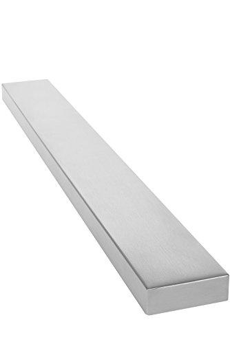 Chefarone Magnetleiste Messer - Für mehr Platz auf Ihrer Arbeitsfläche - 40 cm Messerleiste magnetisch - Extra starker Magnet Messerhalter aus Edelstahl - Silber (Messer Holz Magnet)